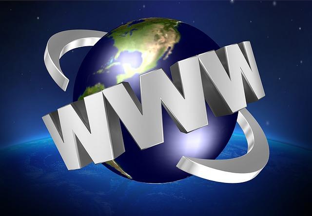 zeměkoule s nápisem www
