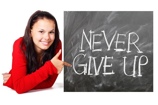 Důležité je se nevzdávat.