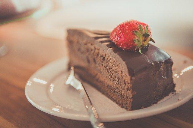 čokoládový zákusek